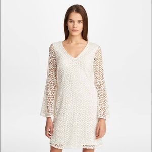Karl Lagerfeld Paris ivory lace shift dress Size 2